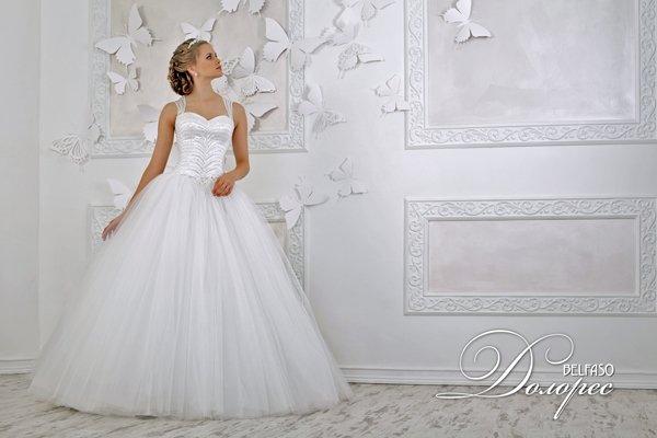 Красивые пышные свадебные платья 2013